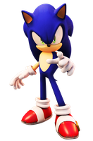 Sonic The Hedgehog (2006 Pose) Upgraded by FinnAkira