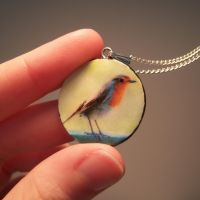 Robin Pendant - Courage by lulabug