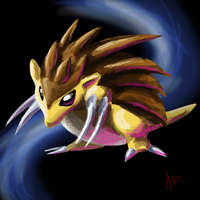 Weird Sandslash Sketch of Weirdness by ComicMasterX