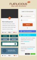 Flatilicious User Interface Free by KL-Webmedia