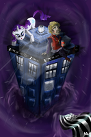 Tyrion and Rarity / Tardis by Pixpins