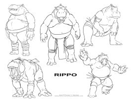 Rippo Sketches by NateHallinanArt