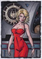 Number Six Sketch Card by tonyperna