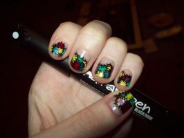 Patchwork Nails by ffishy21