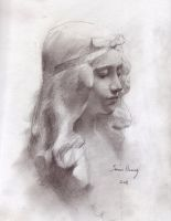 Bust of a young girl by MyFantasie