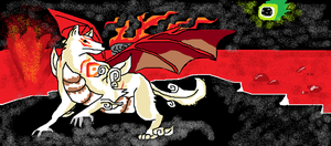 Okami dragon dog doodle by ConkerTSquirrel