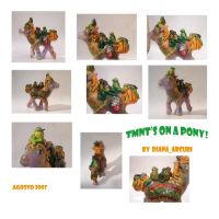 Turtles on a Pony by customlpvalley