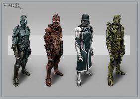 Armoured suit sketches by RobbieMcSweeney