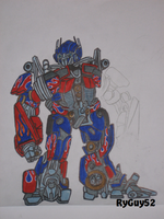 Optimus Prime caricature by RyGuy52