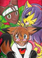 The AWESOME trio colored by Sparky2hot4ya