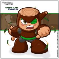 Wood Man Powered Up + by Ageman20XX