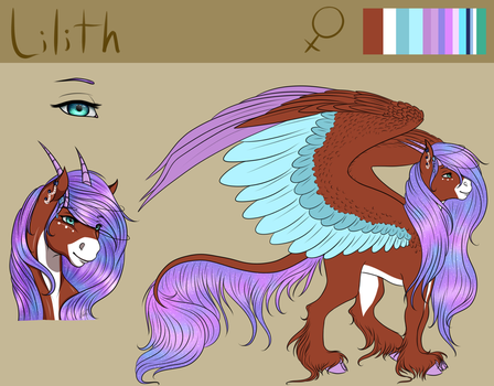 Reference Sheet Commission: Lilith by Crazyaniknowit