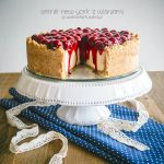 Perfect New York cheesecake with cherries by Pokakulka