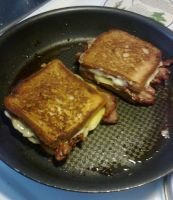 Grilled Cheese, with BACON. by crazycat690