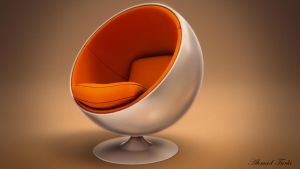 Egg Chair Render by AhmadTurk
