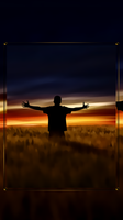 Colors Wallpaper HD with Gold button frame by kingwicked