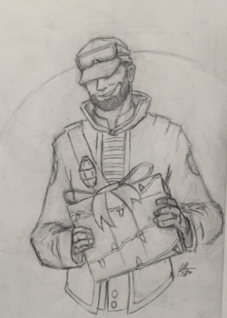 Christmas sketch/lineart by mopdtk