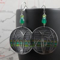 green grass earrings by skladsznurowadel