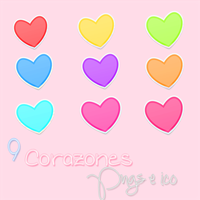 Icons Hearts by Lauurii