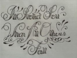 script lettering by jessicore666