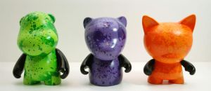 Exploding Gummy Bear Vinyl Toy by Morbid84