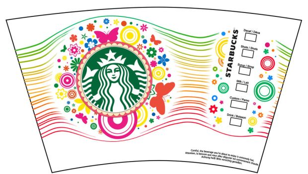 Starbucks 2016 Spring Cup Design by JoeDieBestie