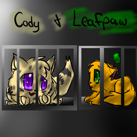Cody and Leafpaw by Kitzophrenic