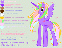 QUEEN PURPLE MORNING FLUTTERSHY by JellyCredible