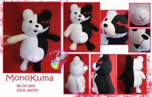 MONOKUMA MONOBEAR PLUSH by chocoloverx3