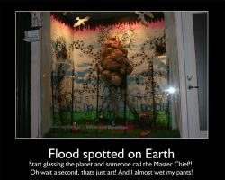 Flood spotted on Earth by Indiliel