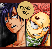 Fairy Tail panel coloring by TakuSalvemini
