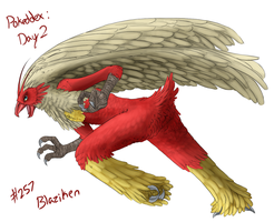 Day 2 - #257 Blaziken by CheezieSpaz
