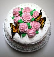 Wilton Rose Cake - 3 by BPHaines