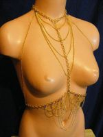 Golden brass body chain by BacktoEarthCreations