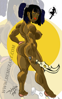 black pin up gal2 by thesteelavenger