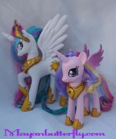 Princess Celestia and Cadance Custom FiM Ponies by mayanbutterfly