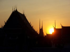 Sunset Bangkok by Stephanie4