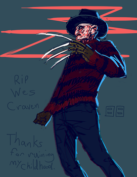rip Wes Craven by robrokop