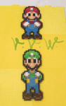Mario and Luigi Superstar Saga perler animation by VV-Weegee
