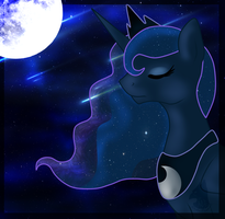 {Princess Luna And Her Lovely Night} by XxBooFlowerxX