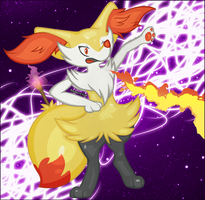 Braixen by Angiebutt