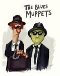 The Blues Muppets by ninjamupp