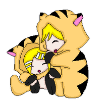 Rin and Len Tiger Pixel by The-Insane-Puppeteer