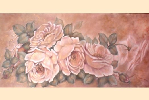 golden blossom painting by ingrid