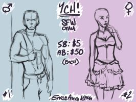 YCH Auction for Final Summer Live Streaming Event by hglucky13
