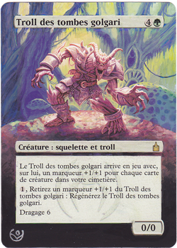 Altered card - Golgari Grave-Troll by JohannesVIII