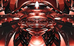 Red Symmetry Wide by VickyM72