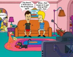 Beavis And Butthead by CorneliusGoodfellar