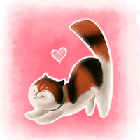 Mochi Cat Likes You :3 by Silartworks