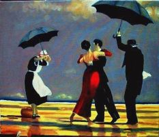 dance on the beach - after Vettriano by mjdezo